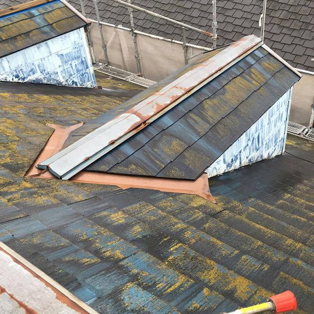 棟板金や屋根の色褪せ