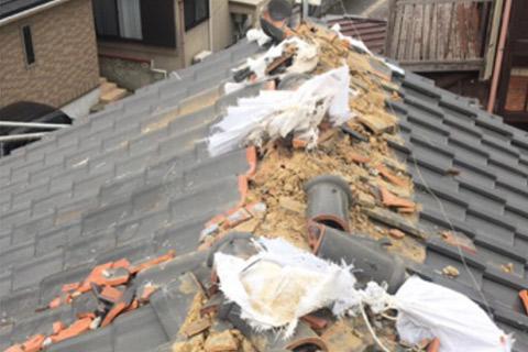 台風被害屋根